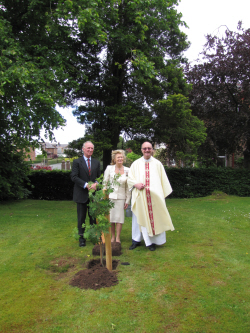 Planting Queen's Jubilee Tree, 2012